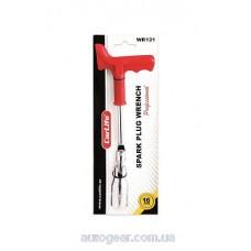 Ключ свечной, усиленная ручка, 16мм Carlife WR121