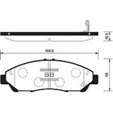Тормозные колодки SP1452