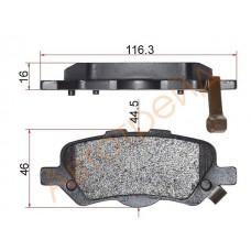 Тормозные колодки SP1458