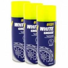 Смазка спрей на литиевой основе Mannol White Grease белая 450 мл (8121)